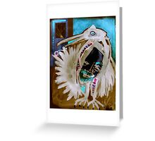 carry on white boy Greeting Card