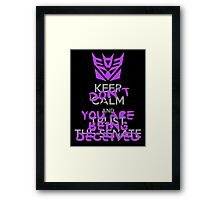 DON'T Keep Calm Framed Print