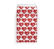 Pixel Heart 8 Bit Love Duvet Cover