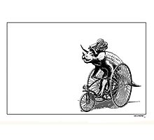 Triceratops on a  Tricycle Photographic Print