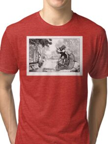 Triceratops on a Tricycle Tri-blend T-Shirt