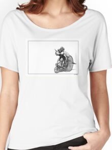 Triceratops on a  Tricycle Women's Relaxed Fit T-Shirt