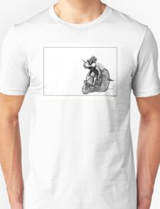 Triceratops on a  Tricycle Unisex T-Shirt