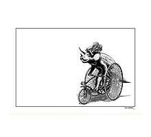 Triceratops on a  Tricycle by Smaggers