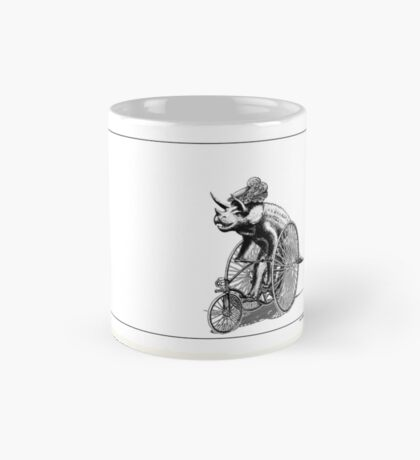 Triceratops on a  Tricycle Mug