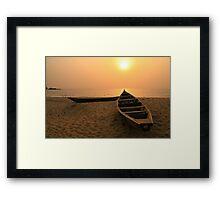 Kribi Sunset Framed Print
