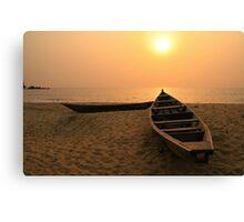 Kribi Sunset Canvas Print