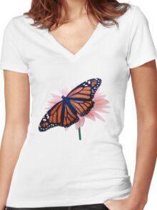 Monarch Women's Fitted V-Neck T-Shirt