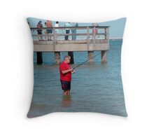 Sanibel Pier Throw Pillow