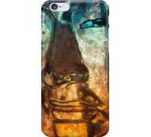Buddha Face goldblue iPhone Case/Skin
