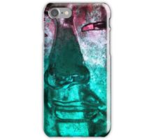 Buddha Face cyanred iPhone Case/Skin