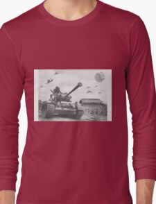 A Wing X Fing WWII Fly Over Long Sleeve T-Shirt