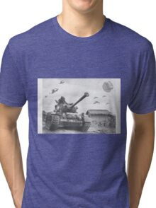 A Wing X Fing WWII Fly Over Tri-blend T-Shirt