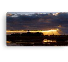 Sunrise at the Base Canvas Print
