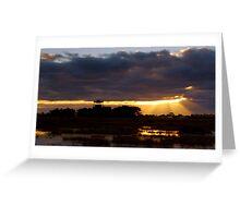 Sunrise at the Base Greeting Card