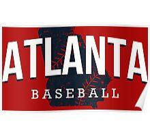 Atlanta Pride - Baseball Poster