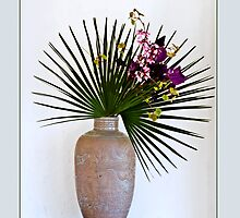 Ikebana-048 Greeting Card by Baiko