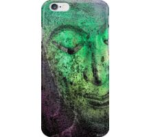 Buddha Face greenish iPhone Case/Skin