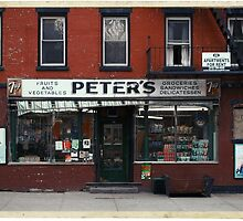 Peter's Bodega in the Lower East Side - Kodachrome Postcards  by Reinvention