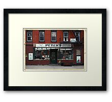 Peter's Bodega in the Lower East Side - Kodachrome Postcards  Framed Print