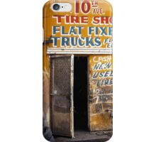 10th Avenue Tire Shop in the West Village - Kodachrome Postcards of vintage store signs in NYC  iPhone Case/Skin