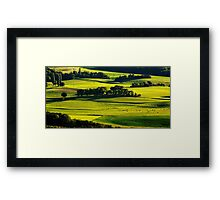 Light on the landscape Framed Print