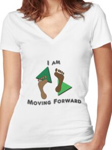 Moving Forward Women's Fitted V-Neck T-Shirt