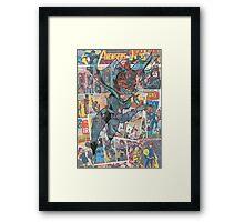 Vintage Comic Black Widow Framed Print