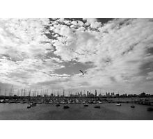 City view Black and White Photographic Print