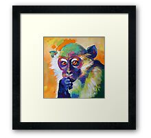 Thinking Monkey Framed Print