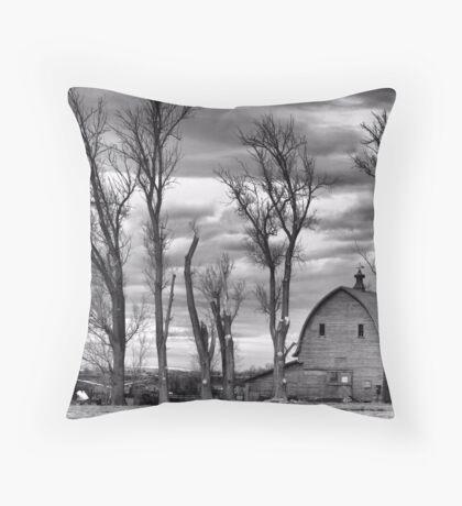 Winter Pruning Throw Pillow