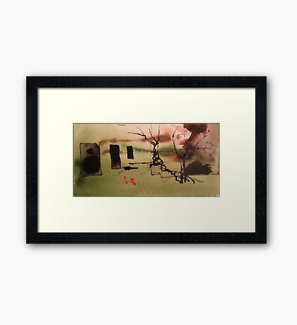 a fleeting moment of zen Framed Print