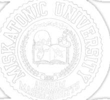 Miskatonic University (white version) Sticker
