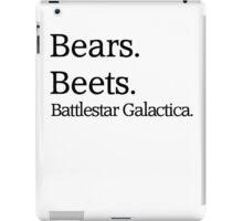 Bears. Beets. Battlestar Galactica. iPad Case/Skin