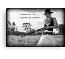 AIN'T AFRAID Canvas Print
