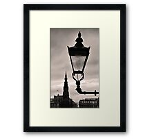 Lighting Up Edinburgh Framed Print