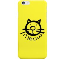 Meow kitty cat iPhone Case/Skin