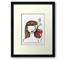 I don't seem to be having any effect now Framed Print