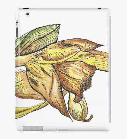 Messy daffodil painting iPad Case/Skin