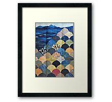 Japanese Quilt # 2 Framed Print