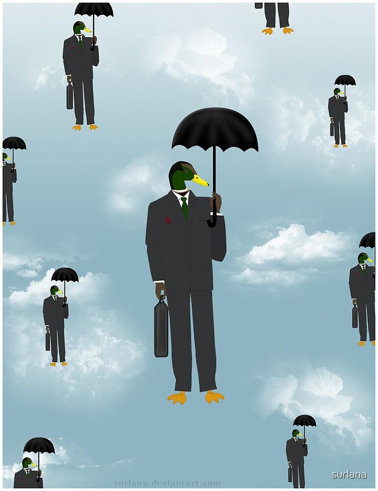 Mallard Magritte by surlana