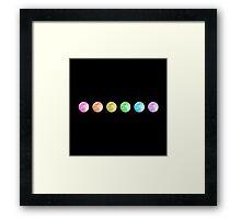 Rainbow Moons Framed Print