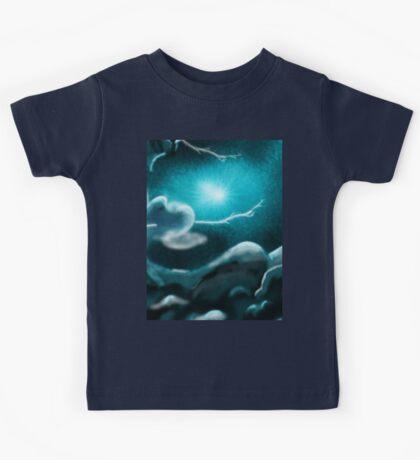 Romantic Rainy cloud in sky Kids Tee