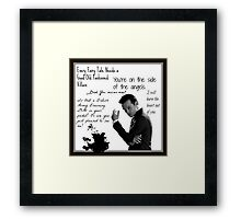 Moriarty Villain Quotes Framed Print