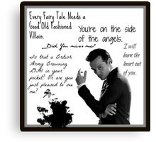 Moriarty Villain Quotes Canvas Print
