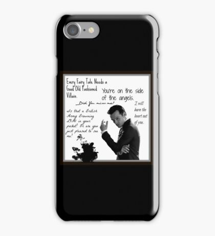 Moriarty Villain Quotes iPhone Case/Skin