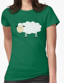 Sheep Character Womens Fitted T-Shirt