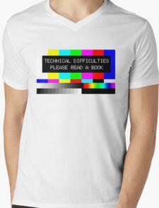 Please read a book Mens V-Neck T-Shirt