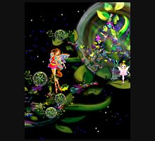 Fairy and Tree world Womens Fitted T-Shirt