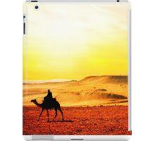 Morocco, camel in the desert iPad Case/Skin